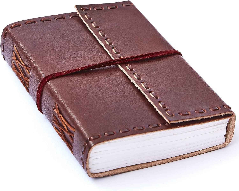 Diario in pelle goffrata commercio equo e solidale con lucchetto ecologico e fatto a mano 13,5 x 18,5 cm
