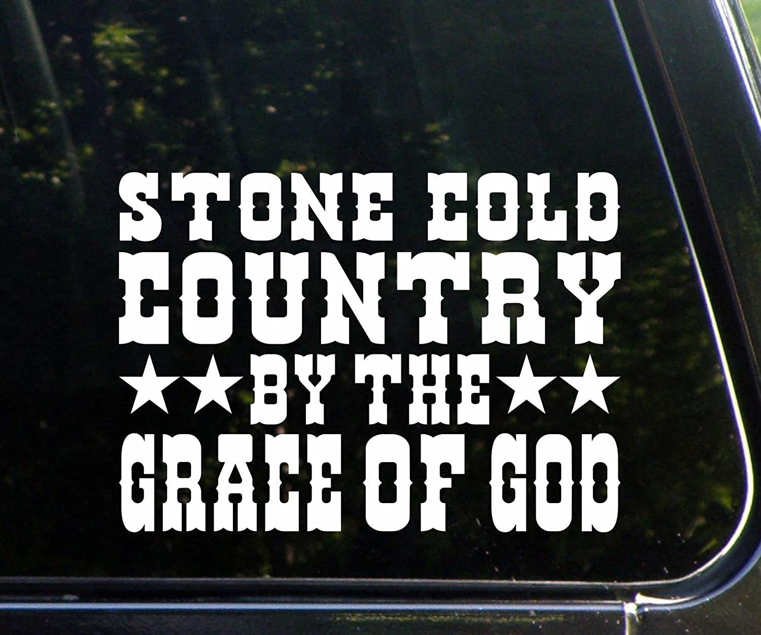 Amazoncom Stone Cold Country By The Grace Of God X Die - Window stickers for trucks