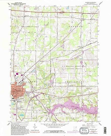 Amazon Com Yellowmaps Ravenna Oh Topo Map 1 24000 Scale
