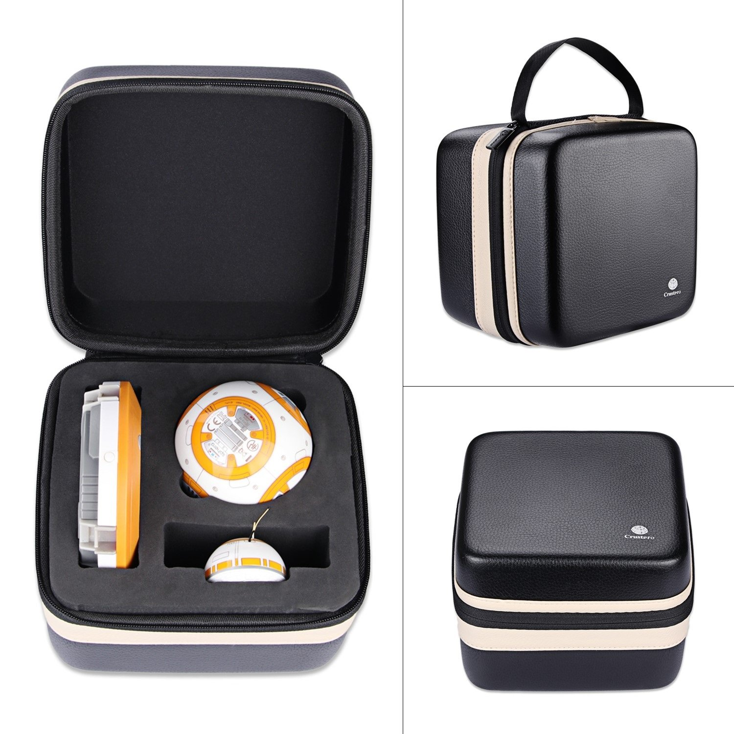 Hard Storage Travel Carrying Bag Case For Sphero Star Wars BB-8 App Controlled Robot Storage Box - Stores Sphero BB8 - Cable And Accessories CrustPro
