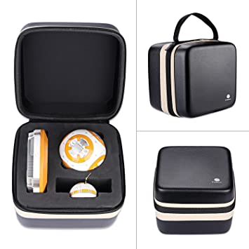 e7f73fa8d5c Meijunter Portable Carrying PU   EVA Hard Case Cover Storage Bag Pouch for  Sphero Star Wars BB-8 Droid  Amazon.co.uk  Toys   Games