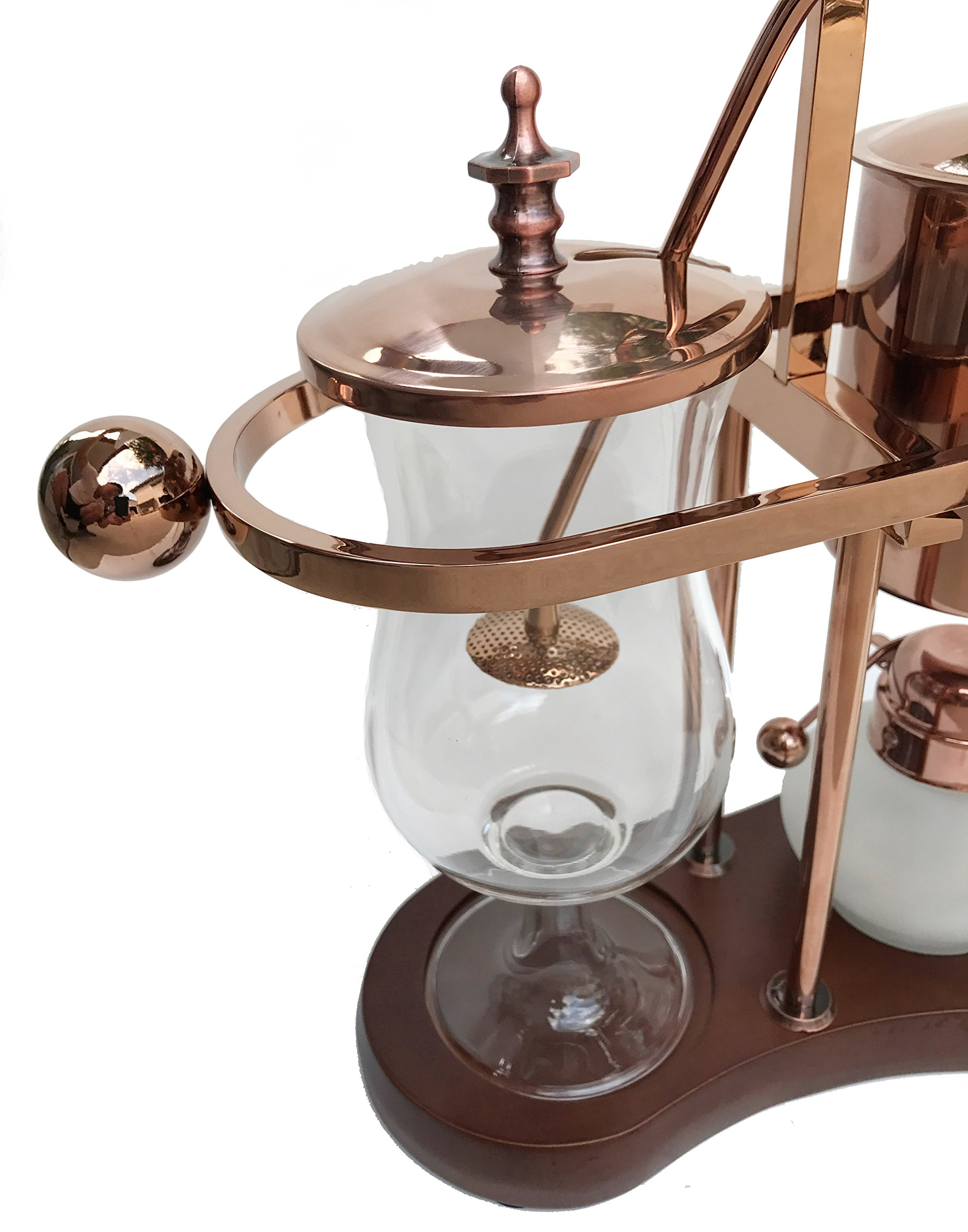 Nispira Belgian Belgium Luxury Royal Family Balance Syphon Siphon Coffee Maker Copper Color, 1 set by Nispira (Image #4)