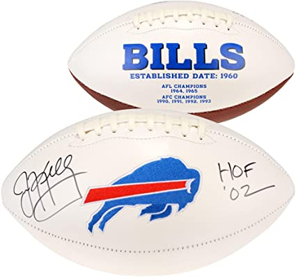 09864687601 Image Unavailable. Image not available for. Color  Jim Kelly Buffalo Bills  Autographed White Panel Football with HOF 02 Inscription - Fanatics  Authentic ...