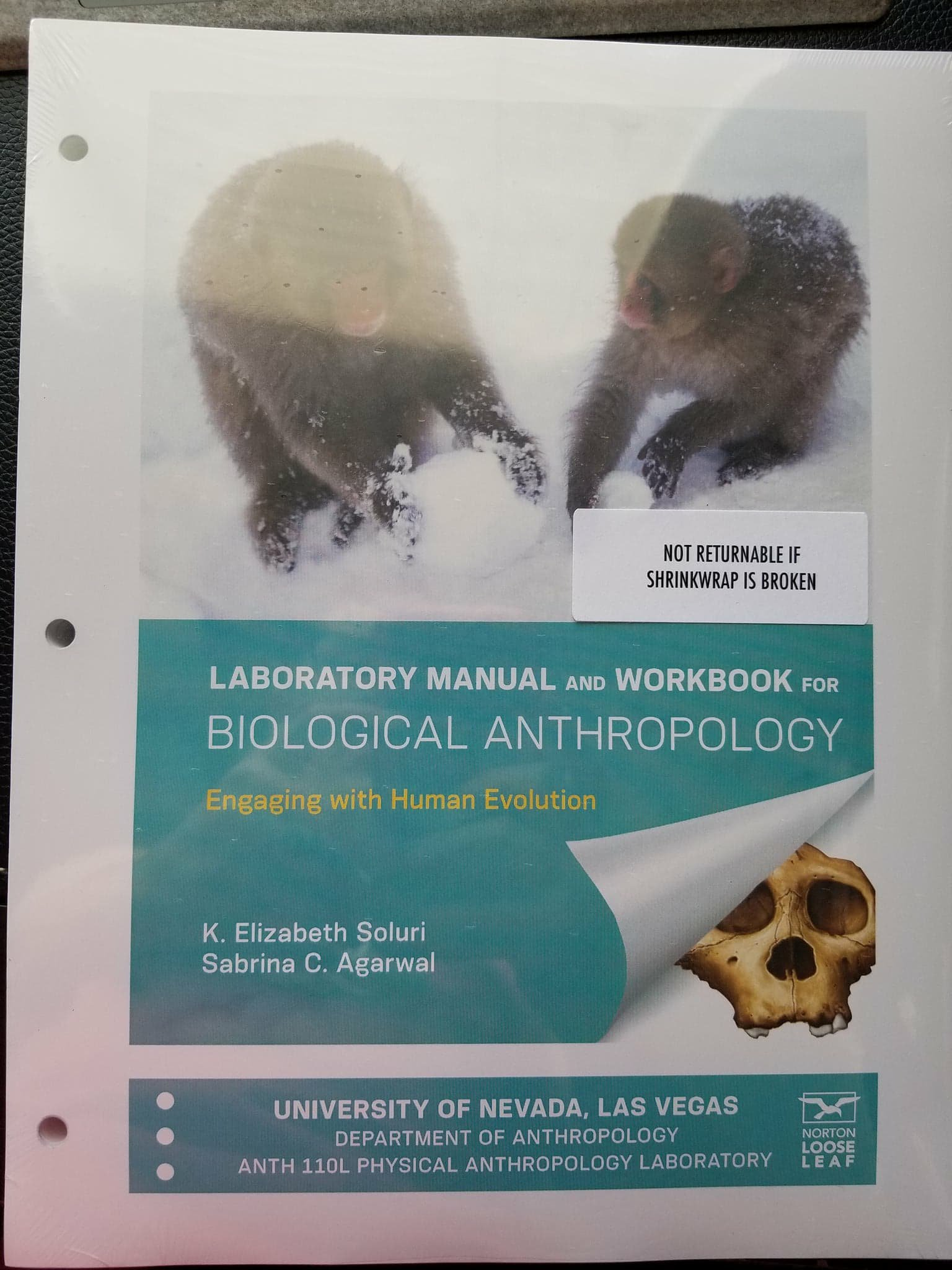 UNLV Lab Manual and Workbook for Biological Anthropology: Soluri & Agarwal:  9780393600261: Amazon.com: Books