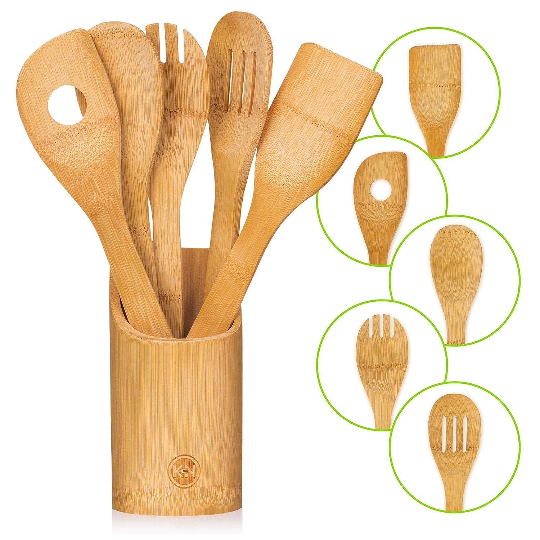 Organic Bamboo Cooking Utensils Set