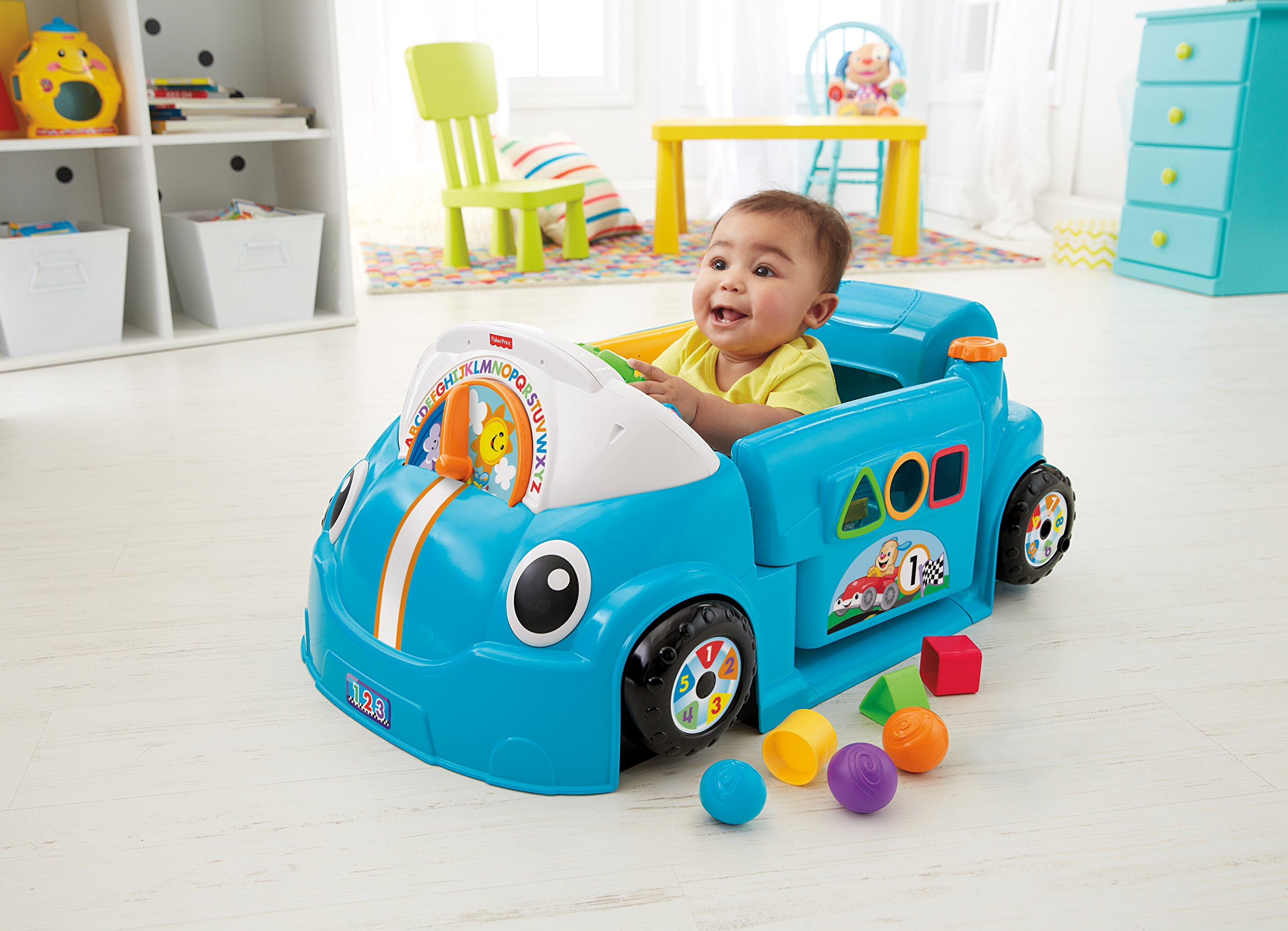 Fisher-Price Laugh & Learn Smart Stages Crawl Around Car, Blue by Fisher-Price (Image #2)