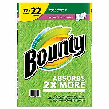 Bounty toallas de papel, 12 Super rollos - Impresión (Pack de 2): Amazon.es: Hogar