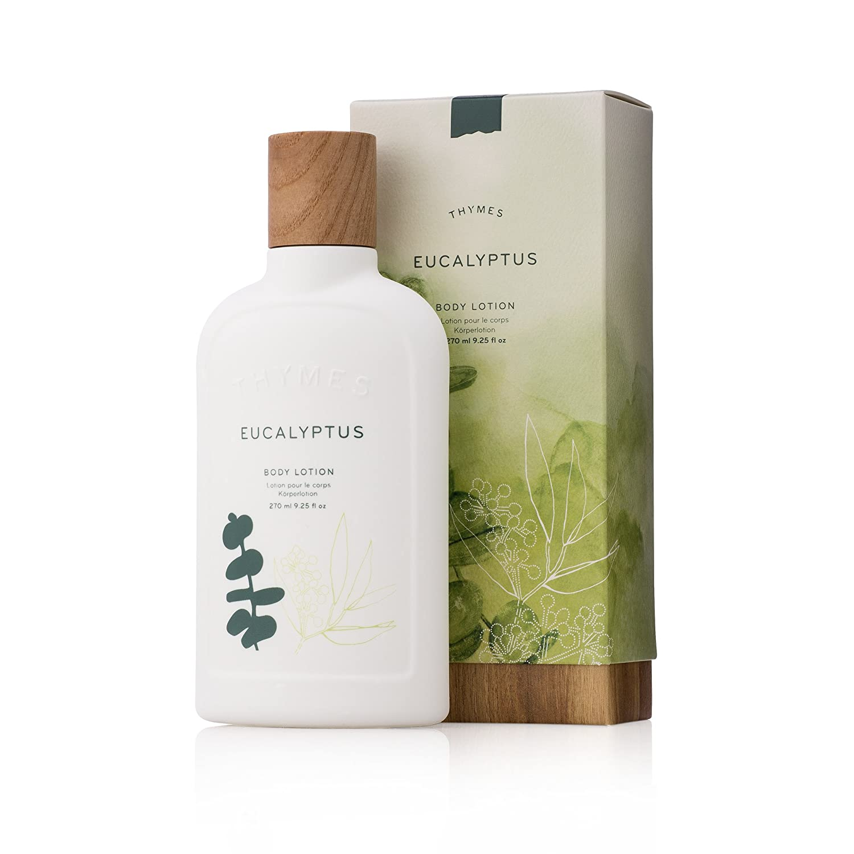 Thymes - Eucalyptus Body Lotion - With Moisturizing Shea Butter and Rejuvenating Eucalyptus Oil & Aloe Vera - 9.25 oz