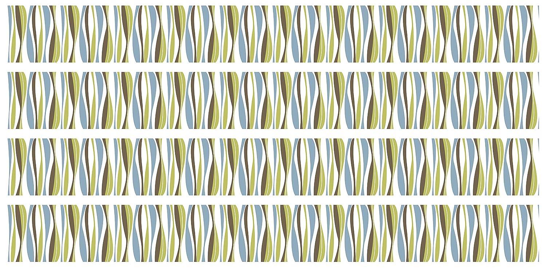 Wanddeko,Natur Borte 4-teilig 560x15cm Selbstklebende Bord/üre Streifen Retro Wandbord/üre Muster Tapetenbord/üre