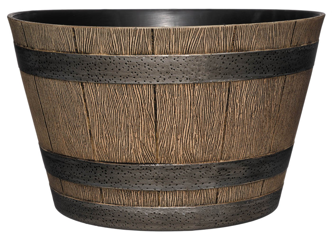 "Classic Home and Garden HD1-1027 DisOak Whiskey Barrel, 20.5"" Distressed Oak"