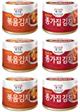 [JONGGA] Cabbage Fried Kimchi Can + Cabbage Kimchi Can / each 5.64oz(160g) / Canned Kimchi / Korean Spicy Food (3+3)