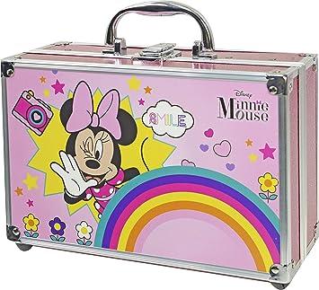Minnie Mouse Makeup Train Case - Neceser Minnie, Set de Maquillaje para Niñas - Maquillaje Minnie - Selección de Productos Seguros en un Maletín de Maquillaje Especial: Amazon.es: Belleza