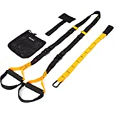 KYLIN SPORT Kit de Sangle de Suspension Sangle de Fitness d'exercice Trainer Straps Cross Training Pro Chargé de 350KG/ 365KG/ 450KG/750KG Domicile Piscine Gymnase Domicle - Un sac à ranger fourni