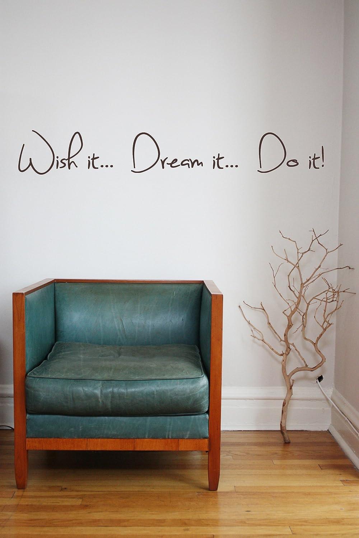 Wish it Dream it Do it Quote murale soggiorno camera da letto decalcomania Autoadesivo della parete del vinile studio ufficio Oggettistica per la casa
