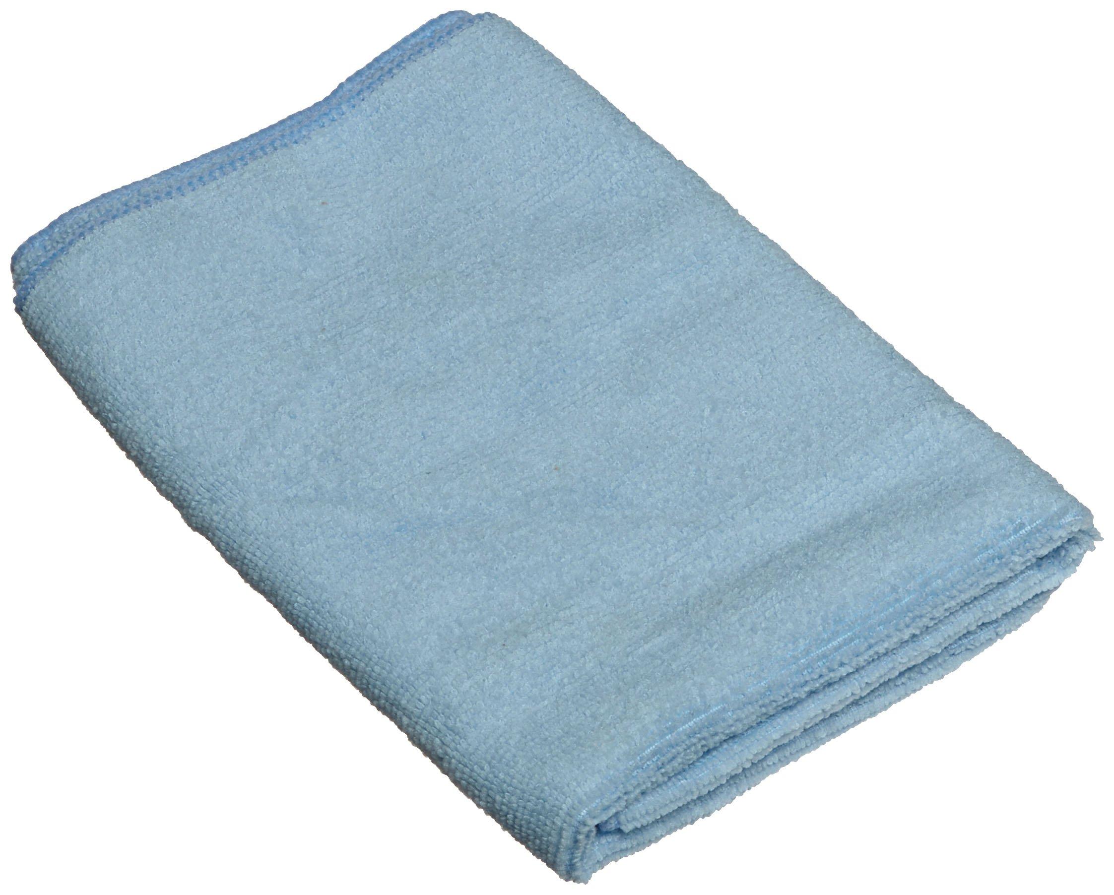 Impact LFK500 Microfiber All-Purpose Cloth, 16'' Length x 16'' Width, Blue (15 Bags of 12)
