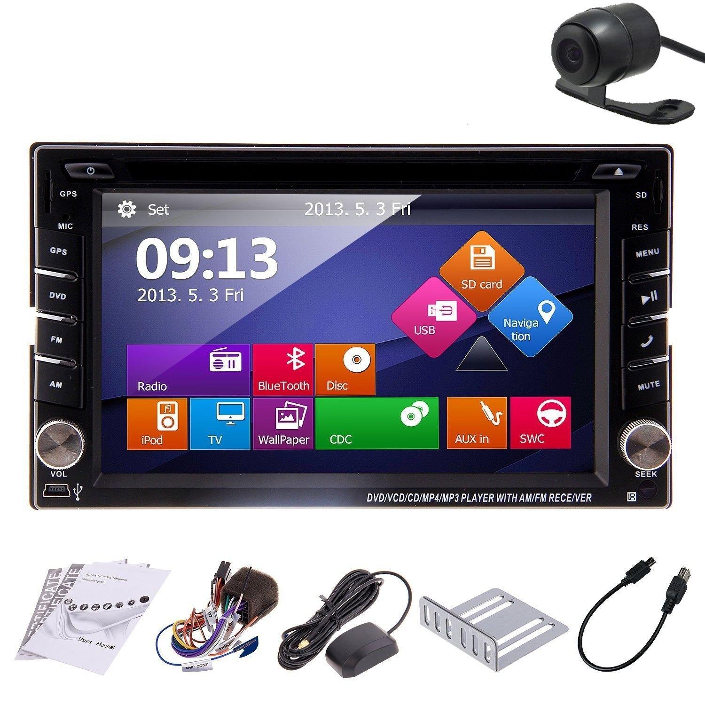 De alta calidad! Coche GPS PC 15,75 cm doble 2 DIN coche reproductor de DVD para coche Bluetooth para el coche de navegación de la unidad central Radio ...