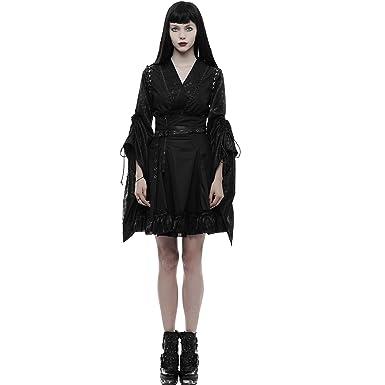 4ecf68cf79a Punk Rave Women Black Gothic Lolita Japanese Jacquard Kimono ...