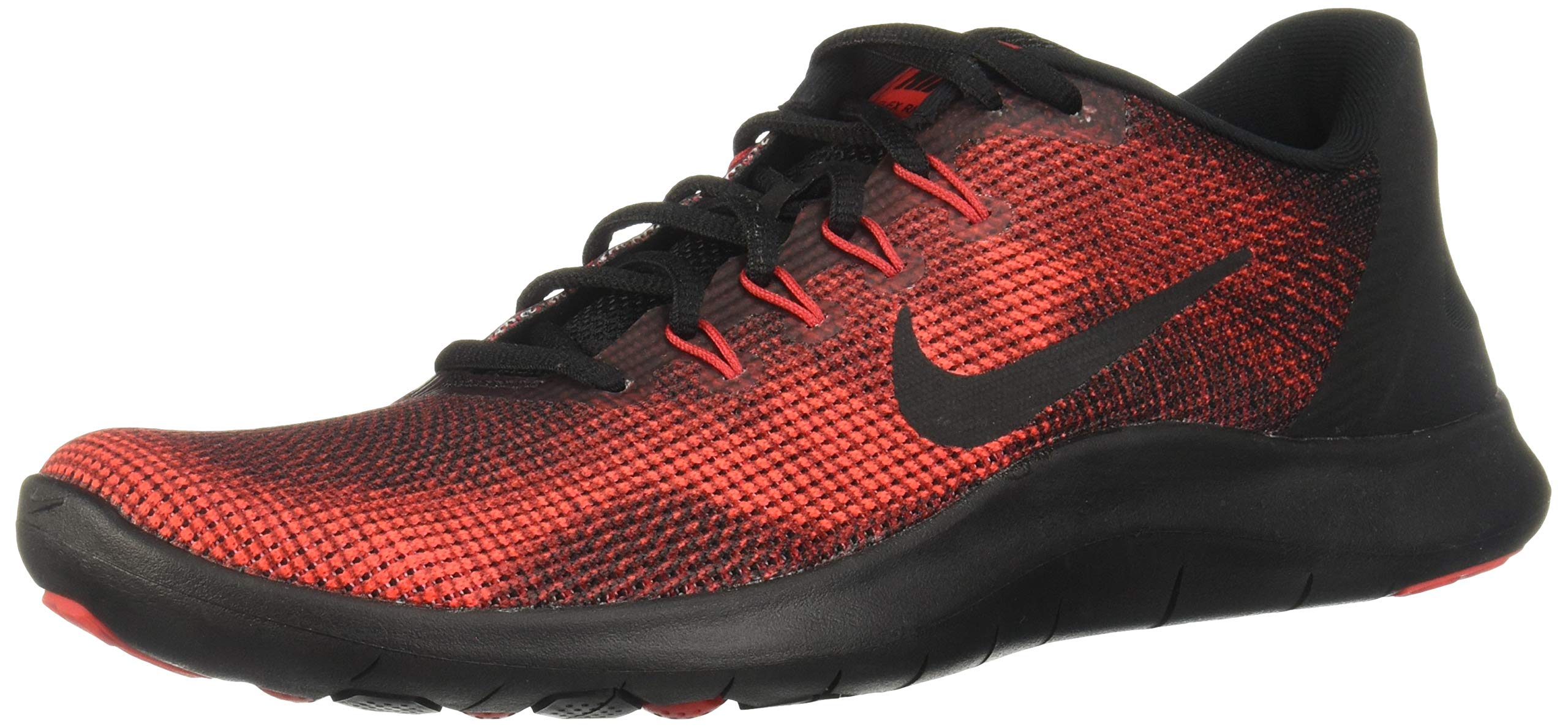 Nike Boy's Flex RN 2018 Running Shoe Black/University Red/Team Red Size 1.5 M US by Nike (Image #1)