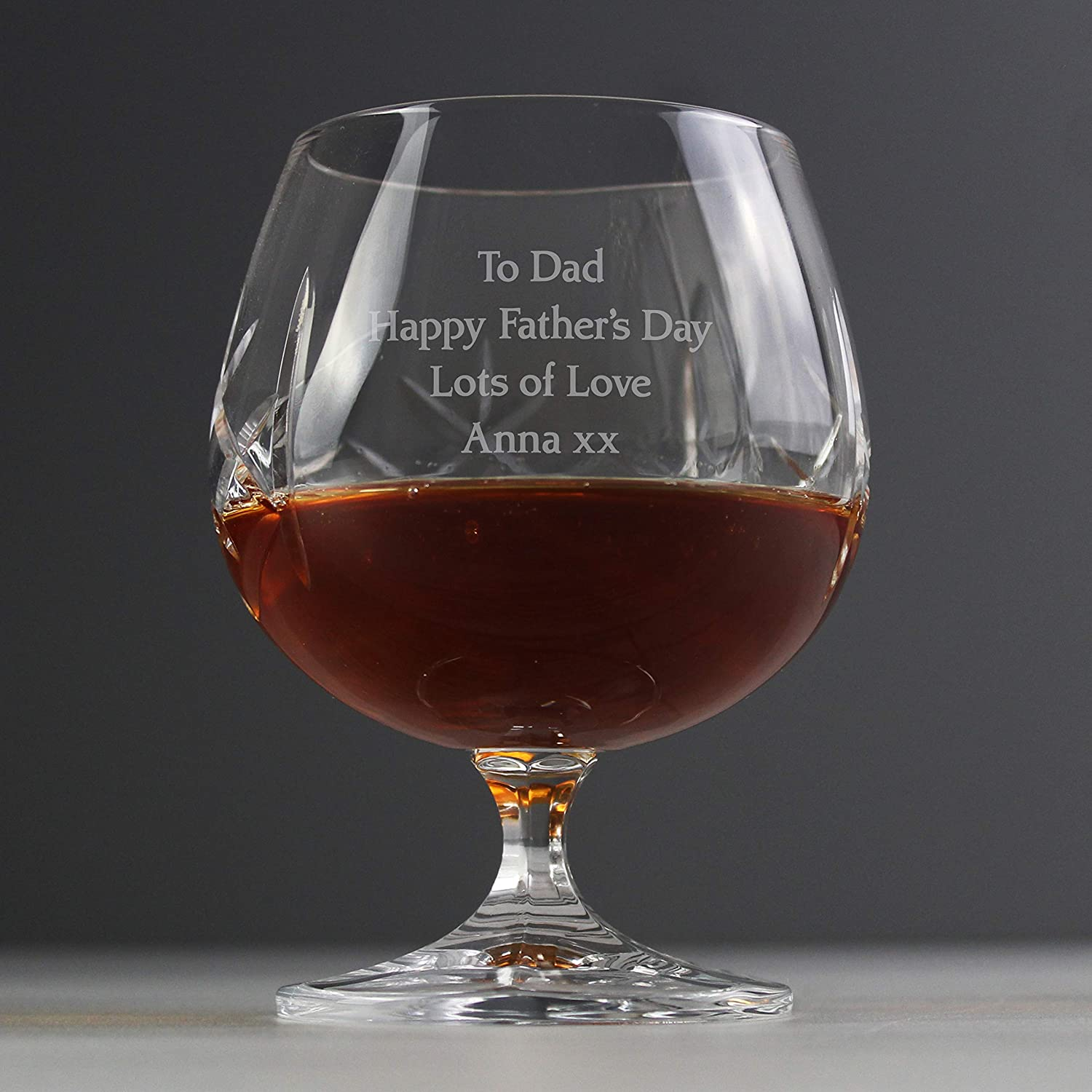 Custom Brandy Cognac Personalised Crystal Cut Glass with Gift Box for Best Man Fathers Day Wedding