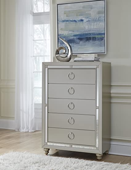 img buy Global Furniture USA 1621 Riley Chest, Silver