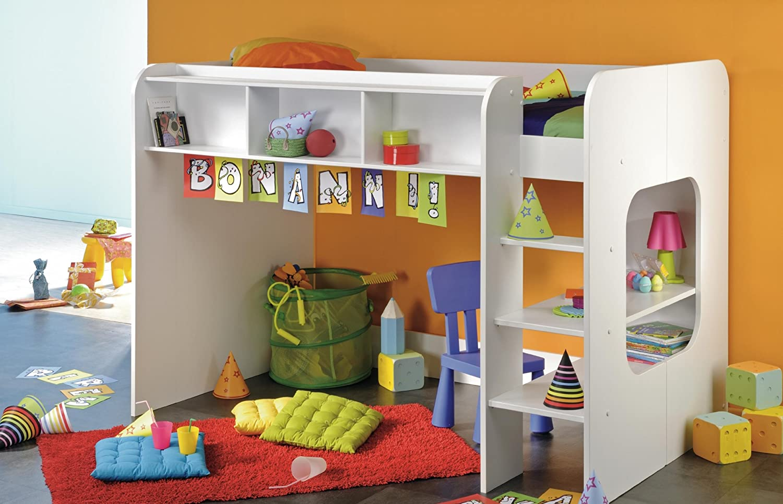 Funktionshochbett  PARISOT Kinderbett Hochbett Wizz weiß: Amazon.de: Küche & Haushalt