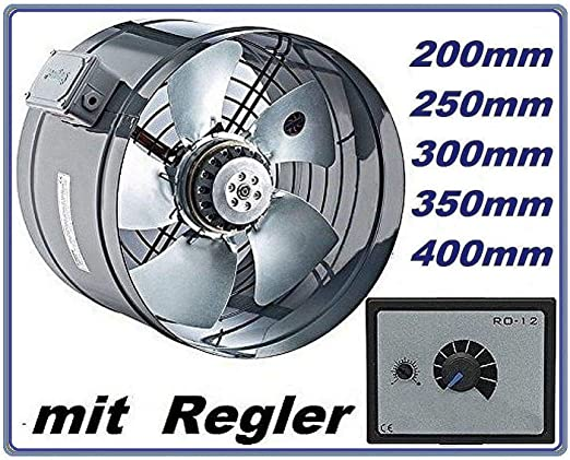 300mm Industrial Tubo Ventilador con 500Watt Regulador de ...