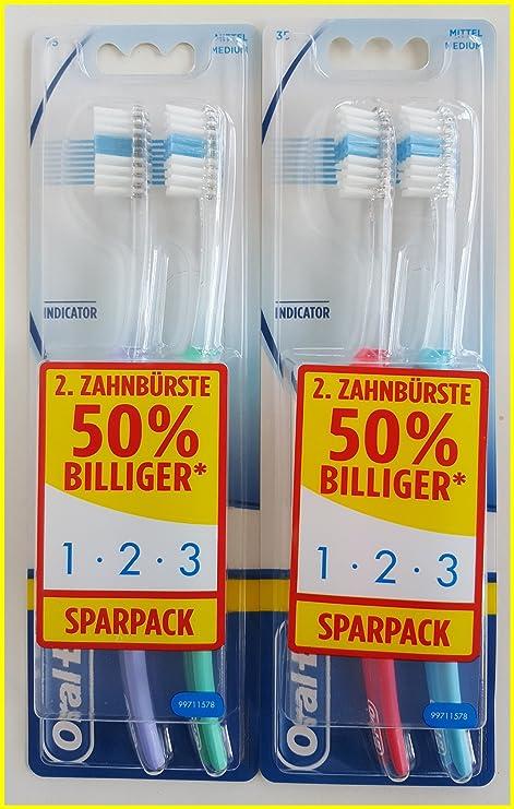 Oral-B 1,2,3 Indicador 35 Cepillo de dientes, medio,