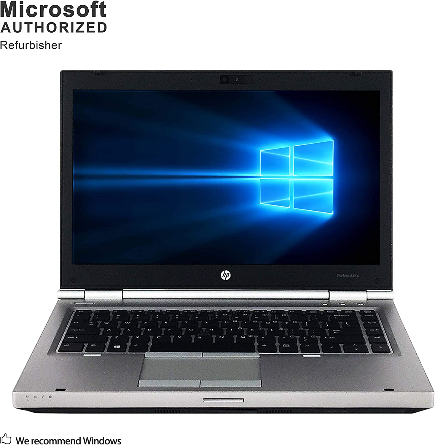 HP ELITEBOOK 8470P 14 Inch Business Laptop, Intel Core i7-3520m up to 3.6GHz, 8G DDR3, 480G SSD, DVDRW, WiFi, USB 3.0, VGA, DP, Win 10 64 Bit-Multi-Language Supports English/Spanish/French(Renewed)