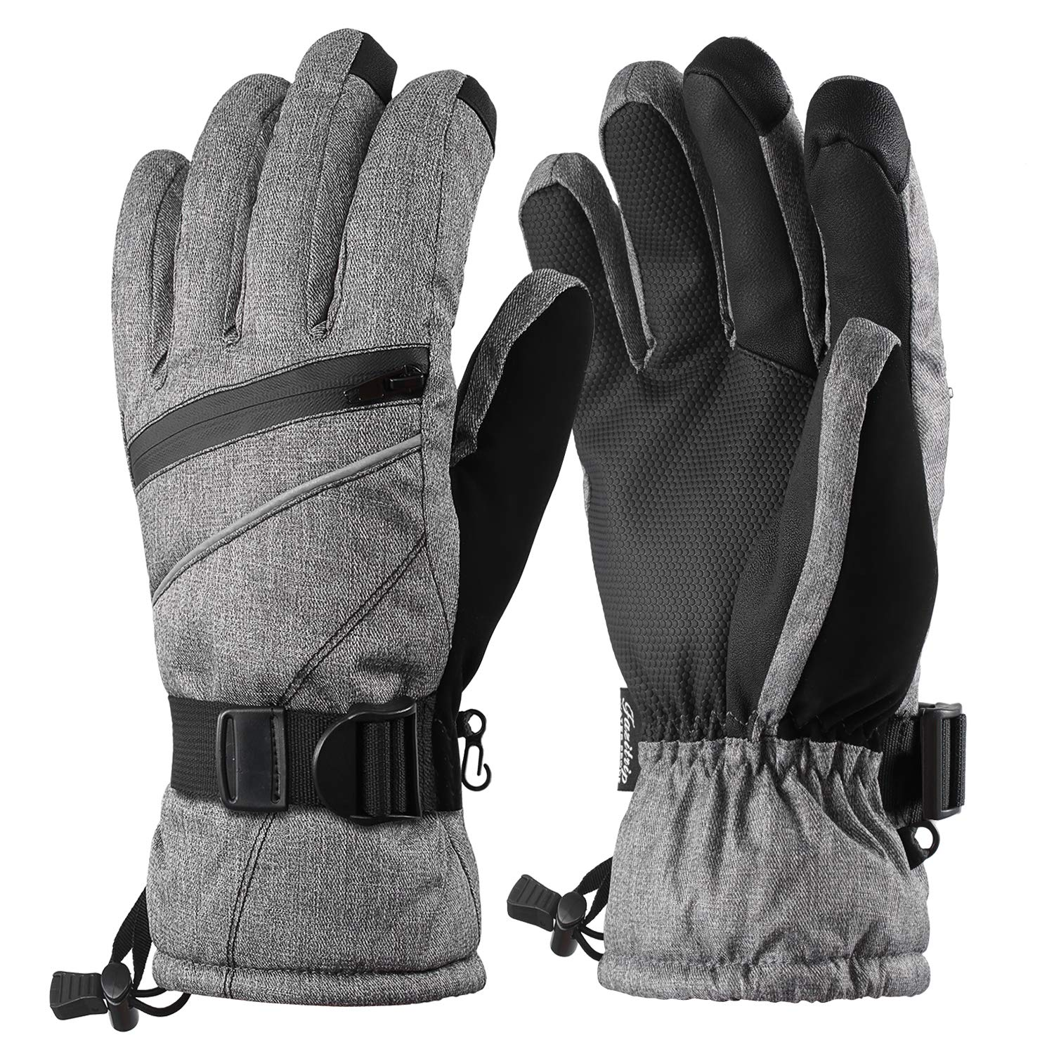 Fazitrip Ski Gloves, Men's 3M Thinsulate Winter Snow Warm Insulated Gloves Windproof Waterproof Gloves for Skiing, Snowboarding and Snowmobile Men' s 3M Thinsulate Winter Snow Warm Insulated Gloves Windproof Waterproof Gloves for Skiing