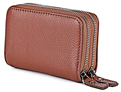6c28b17b74672 Grm Womens Genuine Leather Credit Card Holder Small Coin Purse ...
