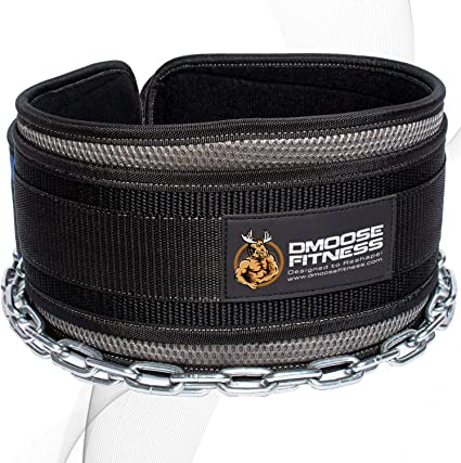 Gymreapers Dip Belt with Chain for Weightlifting Pull Ups Heavy Duty Steel Chain for Added Weight Training Dips