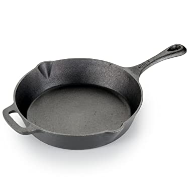 T-fal E83405 Pre-Seasoned Nonstick Durable Cast Iron Skillet/Fry pan Cookware, 10.25-Inch, Black