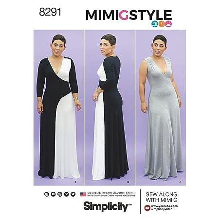 Simplicity Pattern 20W-28W Misses/Women\'s Knit Dress Sewing Pattern ...