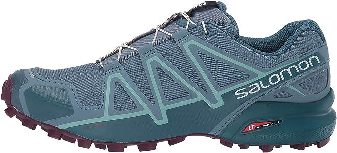 Salomon Speedcross 4 W, Zapatillas de Trail Running para Mujer, Azul (Bluestone/Mallard Blue/Dark Purple), 39 1/3 EU: Amazon.es: Zapatos y complementos