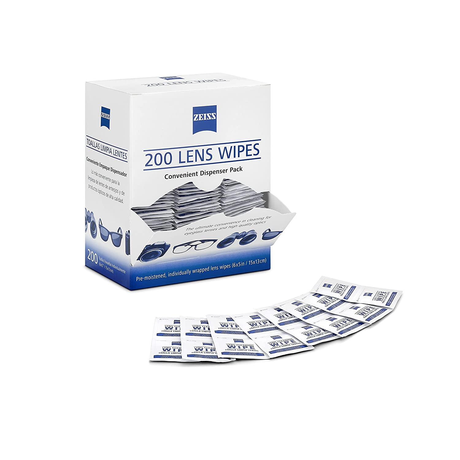 Amazon.com: Zeiss Pre-Moistened Lens Cleaning Wipes 6 x 5-Inches: Kitchen & Dining