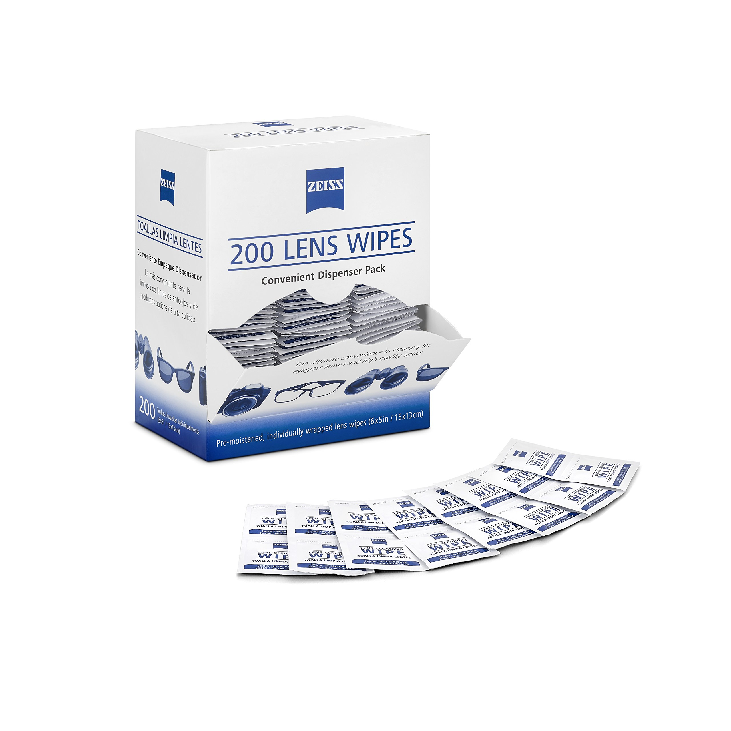 Zeiss Pre-Moistened Lens Cleaning Wipes 200 Ct by Zeiss (Image #2)