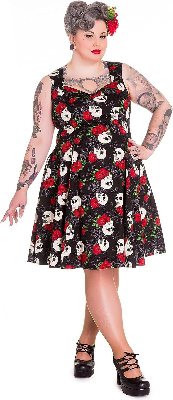 Ladies Plus Size Top Womens T-Shirt Cotton Skull /& Roses Vintage Print Nouvelle