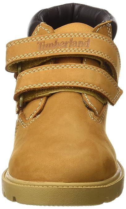 920764fe63a Timberland Unisex Kids' Double Strap Hook & Loop Waterproof Chukka Boots,  Yellow (Wheat Nubuck), 12.5 UK Child 31 EU: Amazon.co.uk: Shoes & Bags