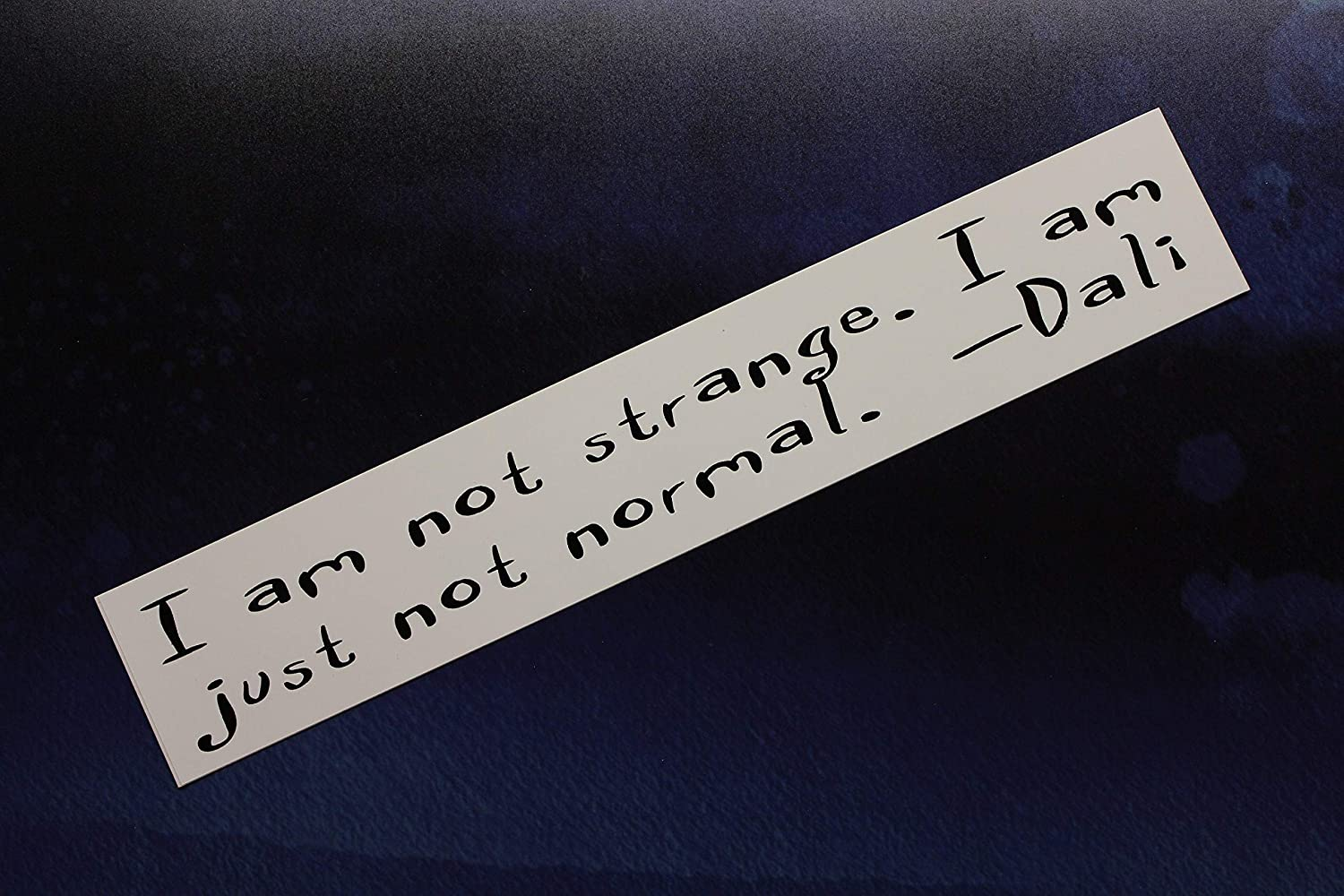 PotteLove Salvador Dali Vinyl Sticker I am not Strange. I am just not Normal. Laptop Bumper Bike car, 5 Inches Height