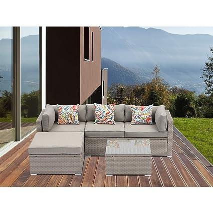 Outstanding Amazon Com Mcguffey 5 Piece Outdoor Patio Furniture Set Inzonedesignstudio Interior Chair Design Inzonedesignstudiocom