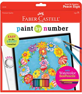 Faber Castell Paint By Number Peace Kit