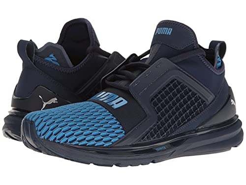 Puma Mens Ignite Limitless Colorblock Running Shoes - Peacoat-French Blue  Size 8  Amazon.co.uk  Shoes   Bags edb7b0499