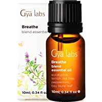 Gya Labs Breathe Essential Oil Blend - Peppermint and Eucalyptus for Sinus Relief and Nasal Congestion Relief - 100 Pure…