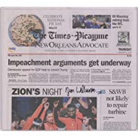 $999 » Zion Williamson New Orleans Pelicans Autographed The Times-Picayune Newspaper From Day After Debut 1/23/20 - Autographed…