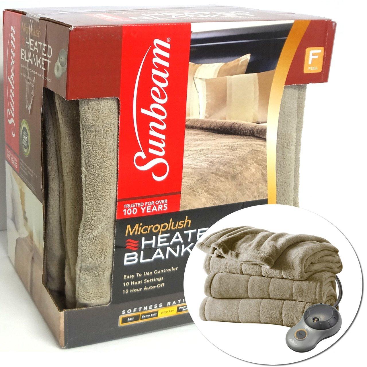 Sunbeam Heated Plush Electric Blanket BSM9GFSR77222A4