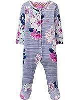 Joules Baby Girls Razamataz Babygrow - Chalk Posy Stripe