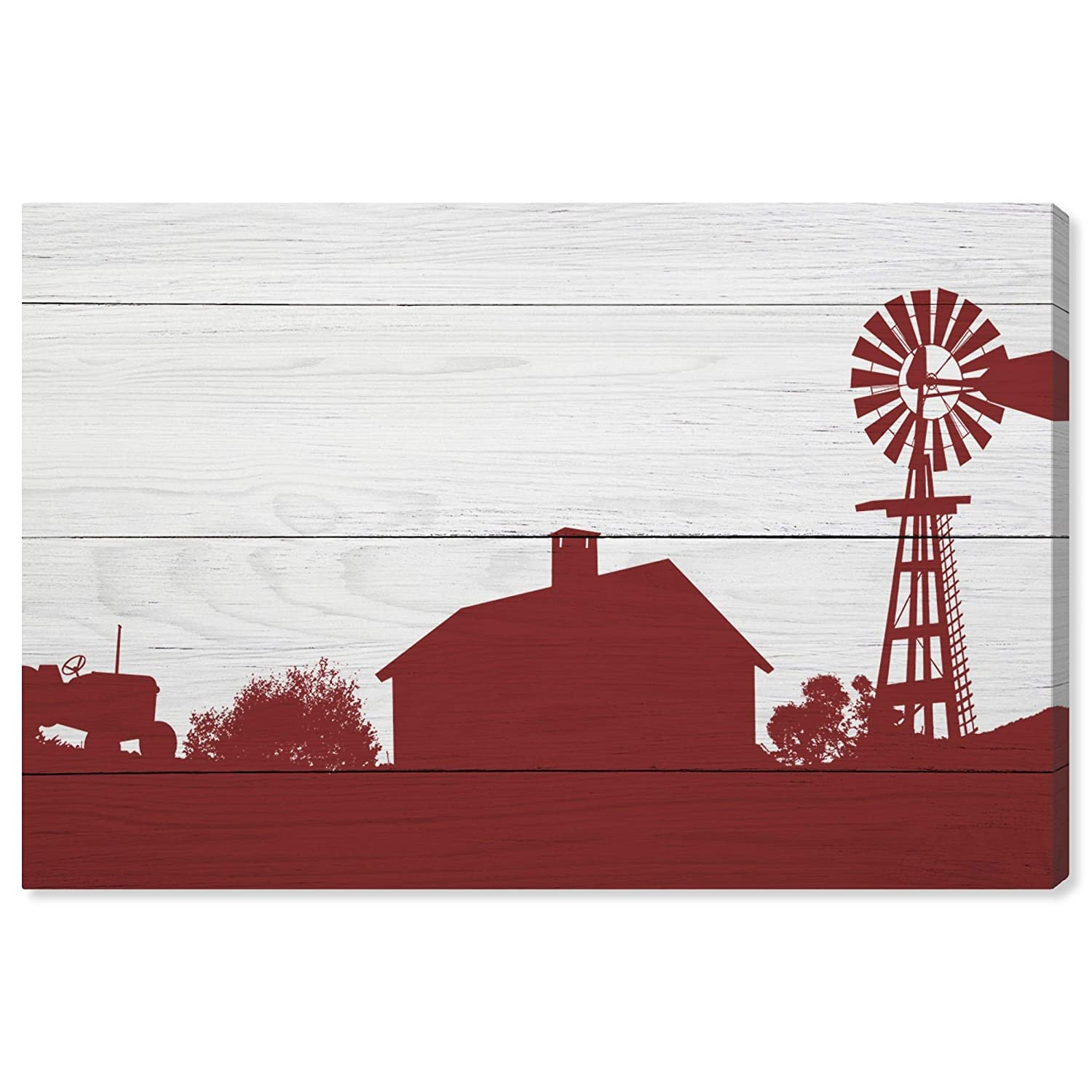 Amazon.com: The Oliver Gal Artist Co. Nature and Landscape Wall Art Canvas Prints Farm Silhouette Home Décor, 15