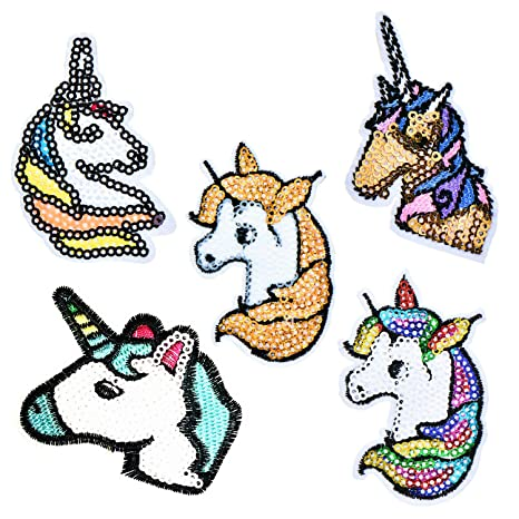Unicorn Patch Embroidered Iron Sew On Clothes Jacket Pony Horse Embroided Badge