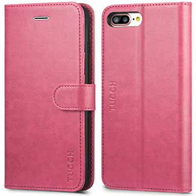 on sale 191b9 a05b9 iPhone 8 Plus Case, iPhone 7 Plus Case, TUCCH iPhone 8 Plus Wallet  Case[Kickstand][Magnetic Closure] Flip Cover with[Card Slots]Leather Folio  Case ...