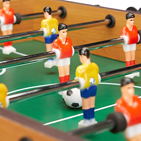 Relaxdays Futbolín de Mesa Portátil, color marrón, 23 x 69 x 37 cm ...